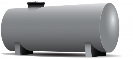 cistern: Steel Industry of the tank for the storage of flammable materials.