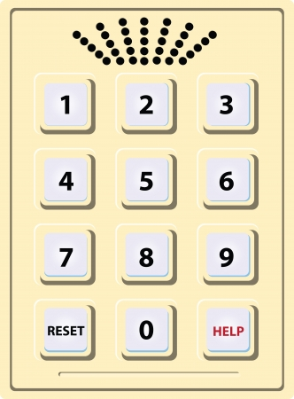 dialer: Scutellum with numbers from 1 to 0 and the possibility of voice communication. Vector illustration.