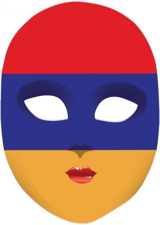 statehood: Classic mask with symbols of statehood of Armenia. Vector illustration