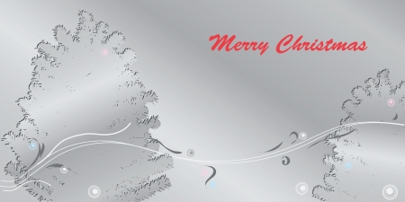 happening: Merry Christmas greeting card in shades of gray. Vector illustration.