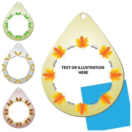 A set of medallions for the registration of the sale, or congratulations. Subject fall. Vector illustration.