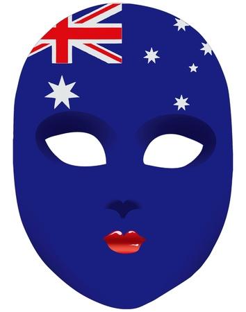 Classic mask with symbols of statehood of Australia. Vector illustration Illustration