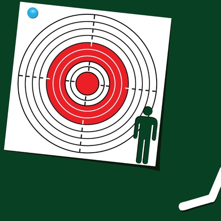 The target is the symbol of man. Vector illustration Stock Vector - 14716555