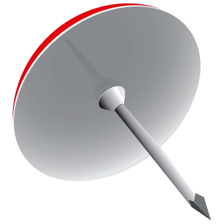 Contemporary clerical pin for fastening papers. Vector illustration.
