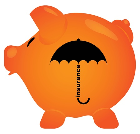 Piggy Bank in the form of a pig with his mouth open.  Stock Vector - 14793139