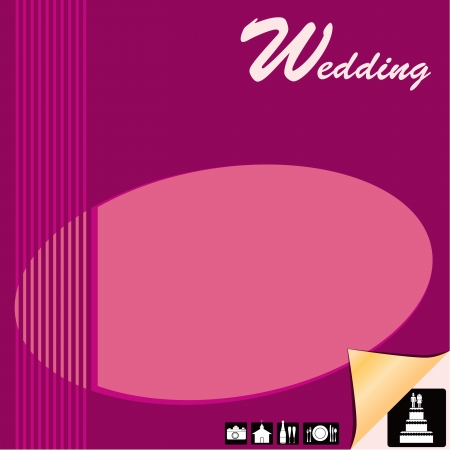Screensaver Wedding Planner with wedding icons. Stock Vector - 14793162