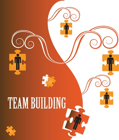 illustration on the topic of team building  Stock Vector - 14793168