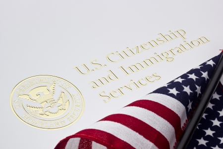 governmental: Photograph of a U.S. Department of Homeland Security logo.