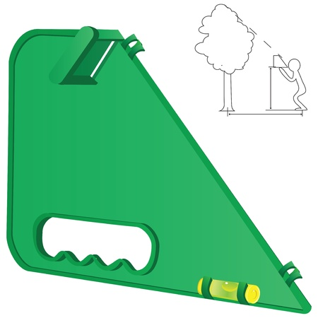 height: Equipment for measuring the height of the tree  Illustration