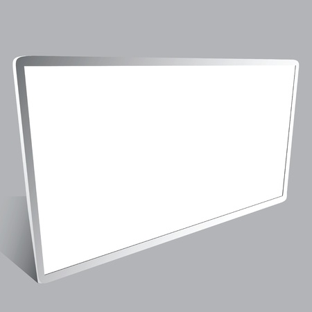 Picture of white plastic display information Reklamní fotografie - 14853546