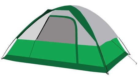 The modern family tent for camping.