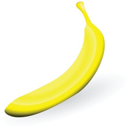 The yellow tropical fruit - banana.   Ilustrace