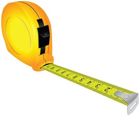 Trabajos de construcción de la cinta métrica Ilustración de vector