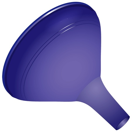 bailer: A plastic funnel for domestic use - Laboratory equipment   Illustration