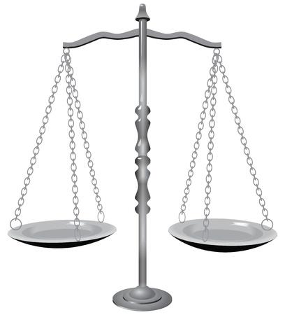 balanza en equilibrio: S�mbolo de la justicia - la balanza.