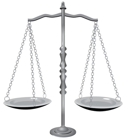 Symbol of justice - the scales. Stock Vector - 14923109