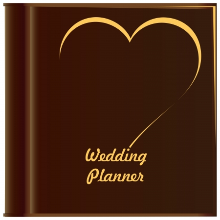 Planning a wedding. Cover album art for individual planning a wedding. Stock Vector - 14923208