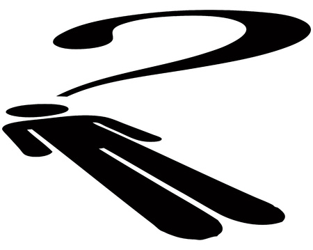 The symbol of creative people placed a question mark Illustration
