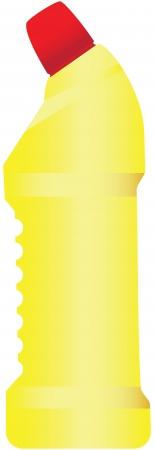 crisper: Plastic bottle with a chemical agent illustration.