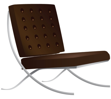 Leather chair for a modern interior illustration.