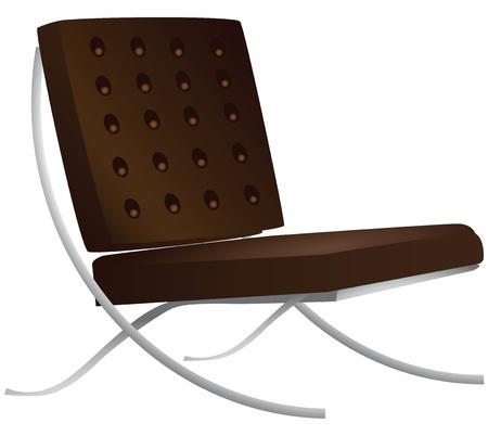 leather chair: Sedia in cuoio per una illustrazione interni moderni.