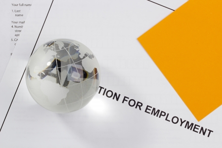 Directly above photograph of a job application. Stock Photo - 15100072