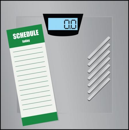 Blank calendar for floor scales illustration. Vector