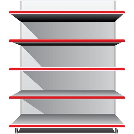 plant stand: Trading Equipment - Empty shelves for the goods illustration.