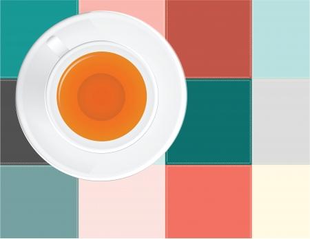 scenical: A cup of tea colored cloth napkin
