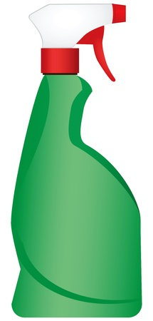 pulverizer: Plastic spray for household use. Vector illustration.