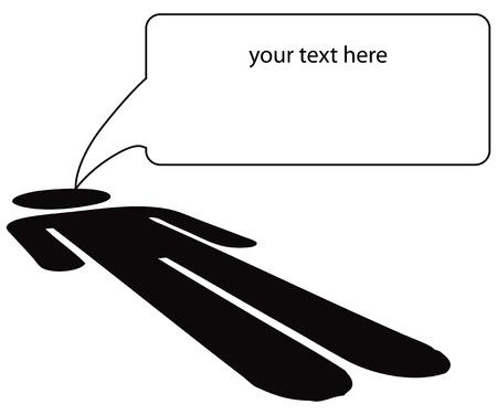 underlying: Message from the underlying rights. Vector illustration. Illustration