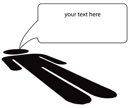 questioning: Nachricht von der zugrunde liegenden Rechte. Vektor-Illustration.