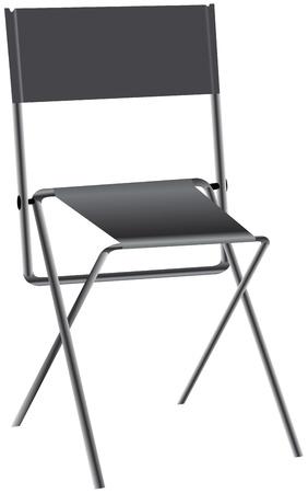 金属製のフレームを転送するための折りたたみ椅子  イラスト・ベクター素材