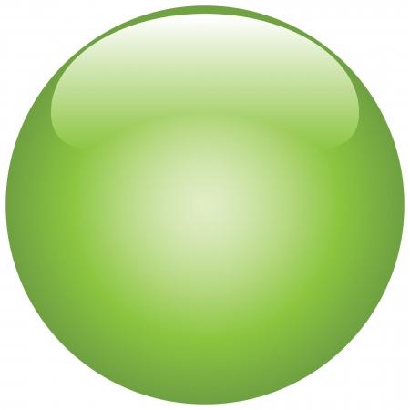 viso: Bola verde con un ligero brillo