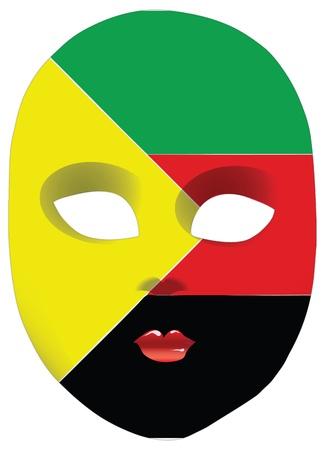 statehood: Classic mask with symbols of statehood of Azawad