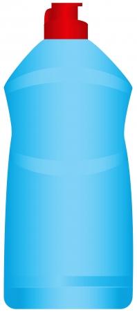 crisper: Plastic bottle with a chemical agent. Vector illustration. Illustration