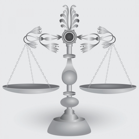 apothecary: Vintage apothecary scales, symbol of jurisprudence.