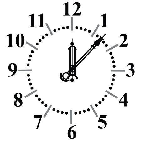 빈티지 유리 시계 다이얼.