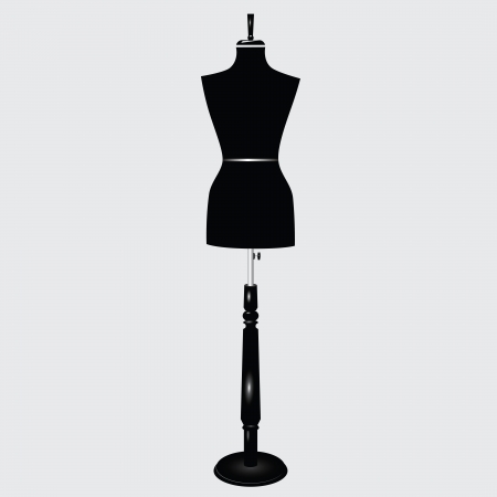 layman: The modern sartorial female mannequin. Vector illustration.