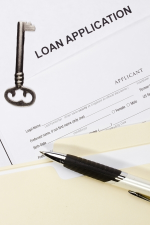 Directly above photograph of a loan application. Stock Photo - 15866474