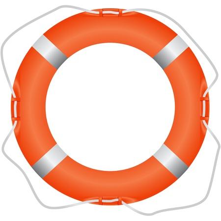 Lifebuoy tool for saving drowning Illustration