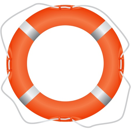 lifebuoy: Lifebuoy tool for saving drowning Illustration