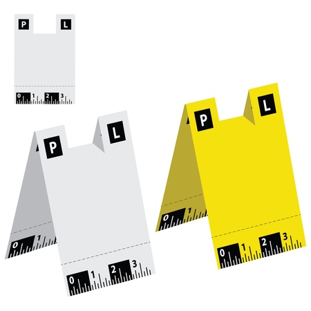whitem: Labels used by police at the scene. Vector illustration.