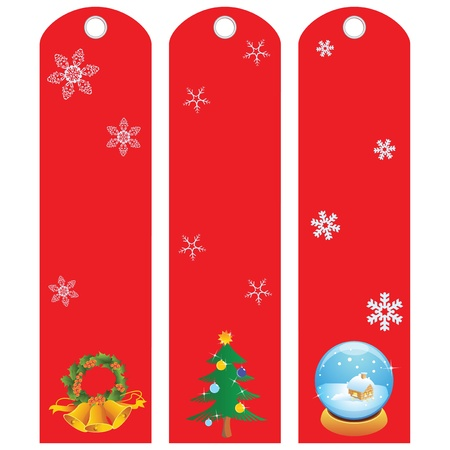 Labels for the winter holidays. Vector illustration. Stock Vector - 16060052