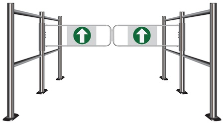 turnstile: Double turnstile in the commercial zone. Vector illustration. Illustration