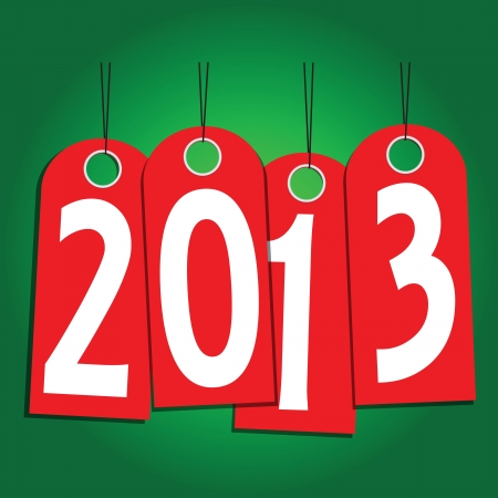 New Year labels of the year. Vector illustration. Stock Vector - 16137819