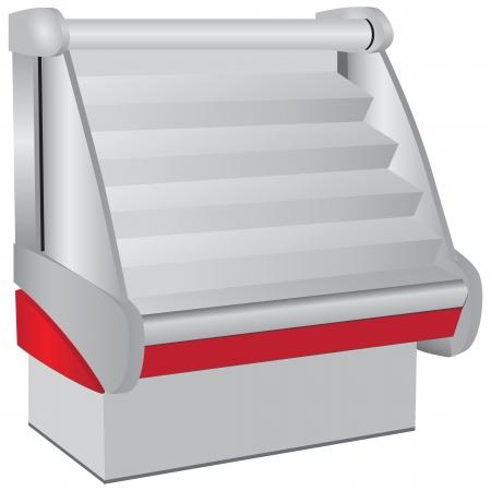 geladeira: Expositores refrigerados para uso como equipamento comercial.
