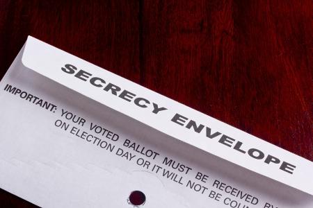 Mailing envelope retain the secrecy. Campaign events. Reklamní fotografie