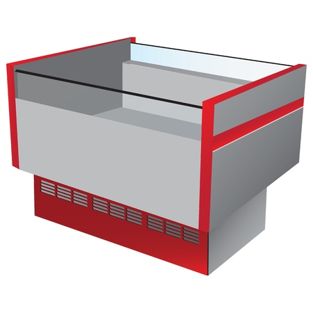 Low temperature refrigerator as commercial equipment.  Vector