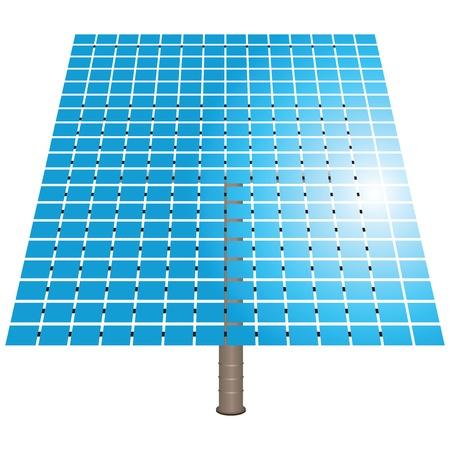 solar battery: Clean energy. Solar battery. Piezoelectric elements Illustration